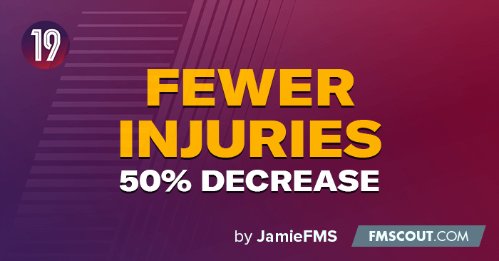 FM 2019 Fantasy Scenarios - FM19 Injuries Decreased by 50%