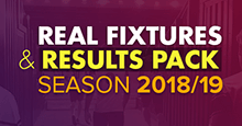 FM19 Real Fixtures & Results 2018/19