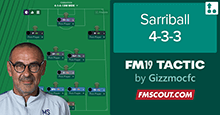 FM19 Tactic: Sarriball 4-3-3 by FMGizzmo