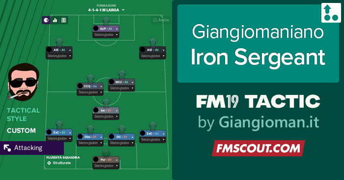 Football Manager 2019 Tactics - Giangiomaniano – The Iron Sergeant