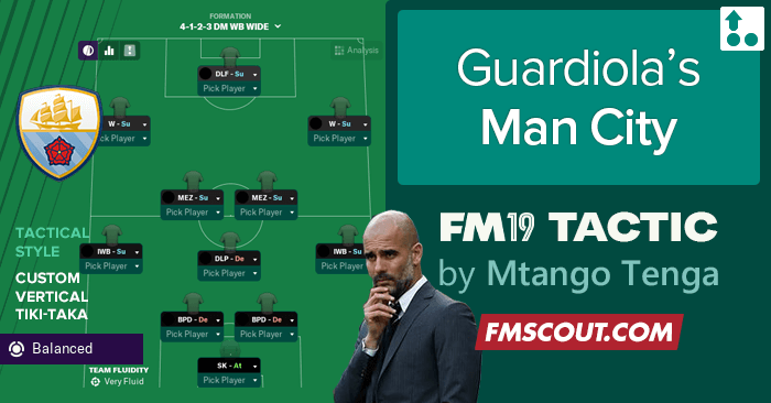 Guardiola Man City True Tactics for FM19 | FM Scout
