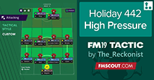 4-4-2 High Pressure - A Holiday Tactic for FM19
