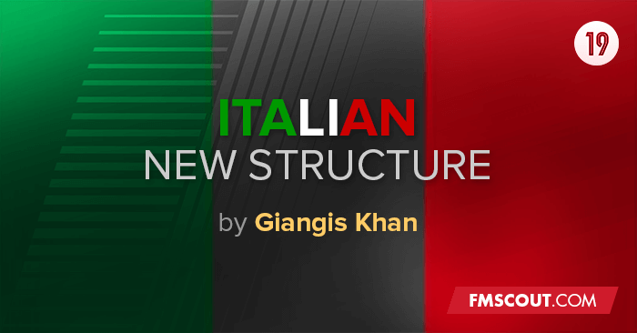 FM 2019 Fantasy Scenarios - Italian New Structure for FM19
