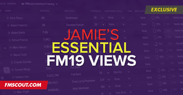 Football Manager 2019 Views & Filters - Jamie's Essential Football Manager 2019 Views