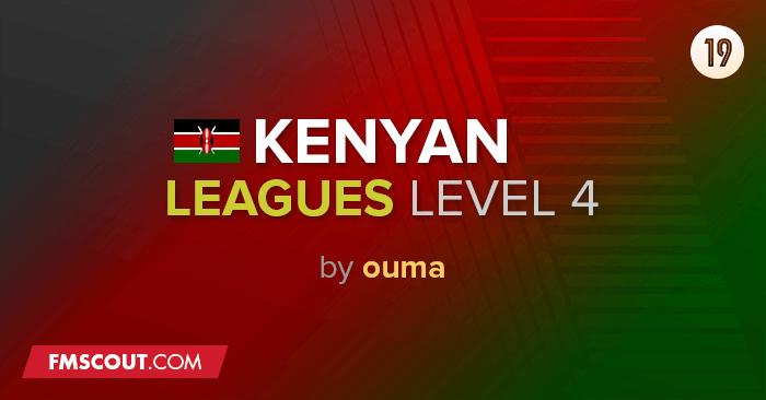 Football Manager 2019 League Updates - Kenyan Leagues 2019/20