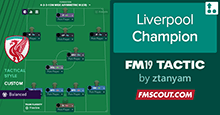Liverpool Champion FM19 Tactic