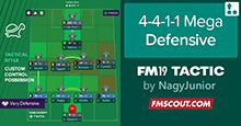 Nagilicious's Mega DEFENSIVE Super FM19 Tactic