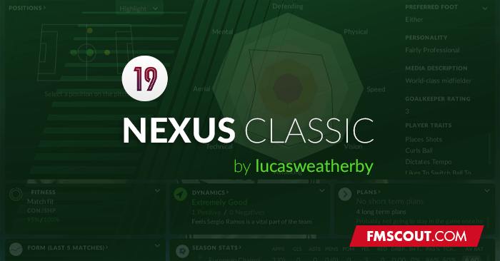 Football Manager 2019 Skins - Nexus Classic skin for FM19
