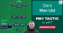 Ole's Manchester United FM19 Tactic