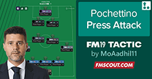 Pochettino FM19 Tactics: Press 3-4-2-1 Attack
