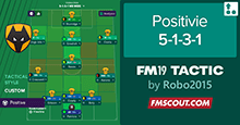 FM19 Tactic: Positive 5-1-3-1 Wolves