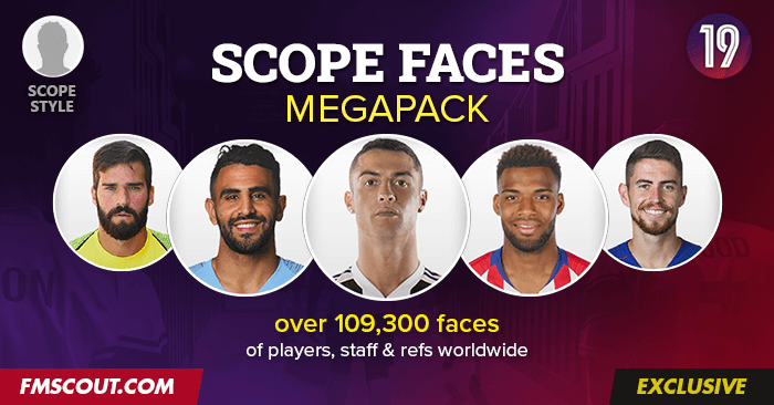 Football Manager 2019 Facepacks - FM Scope Facepack 2019