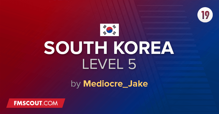 Football Manager 2019 League Updates - South Korea Lower Leagues for FM19