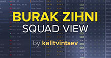 Burak Zihni's Squad View for FM19