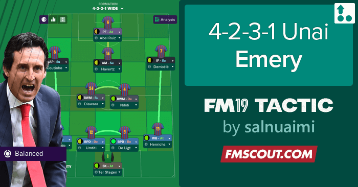 Football Manager 2019 Tactics - 4-2-3-1 Unai Emery Tactics - SMS Edition