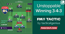 Unstoppable Winning: Fluid 3-4-3 in attack / 4-3-3 in defense