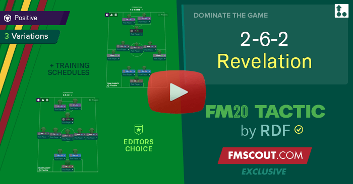 Football Manager 2020 Tactics - RDF's 2-6-2 Revelation // FM20 Tactic