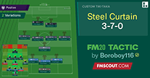 FM20 Tactic: The Steel Curtain 3-7-0