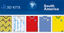 South American Nations 3D Kits for FM20
