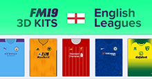 English Leagues 3D Kits 2019/20