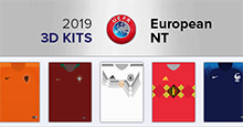 3D Kits: European National Teams 2019