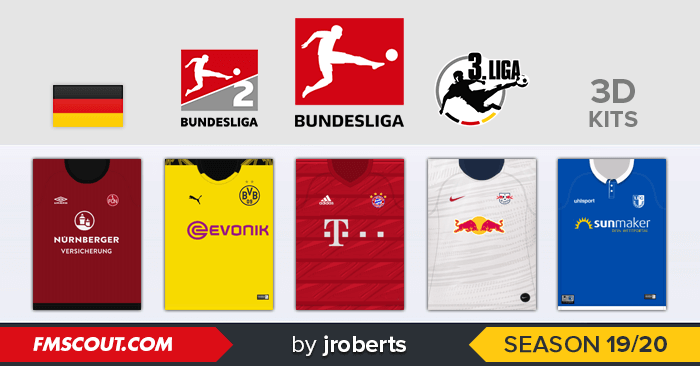 Bundesliga, 2. Bundesliga and 3. Liga 2019/20 for FM20