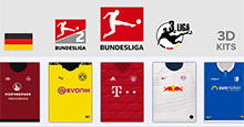 3D Kits: Germany - 2019/20 Bundesliga | 2. Bundesliga | 3. Liga