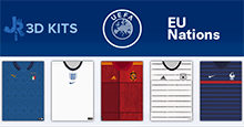 European Nations 3D Kits for FM20