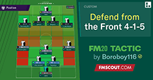 FM20 Tactic: Defend From the Front 4-1-5 / 2-3-4-1