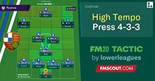 FM20 Tactic: 4-3-3 High Tempo Press // Non League to Championship