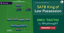 5ATB King of Low Possession // FM20 Tactic Wonder
