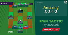 FM20 Tactic: 3-3-1-3 Amazing Results