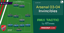 Arsenal's 2003-2004 Invincibles // FM20 Tactic Remake