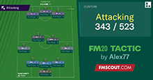 3-4-3 / 5-2-3 Attacking Tactics FM 2020 Updated to (20.2.4)