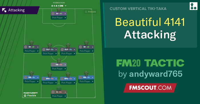 Football Manager 2020 Tactics - FM 2020 Tactic: Play the beautiful 4-1-4-1 attacking game