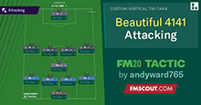 FM 2020 Tactic: Play the beautiful 4-1-4-1 attacking game