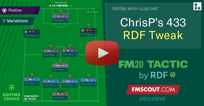 Football Manager 2020 Tactics - ChrisP's 4-3-3 Tactic for FM20 tweaked by RDF