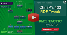 ChrisP's 4-3-3 Tactic for FM20 tweaked by RDF