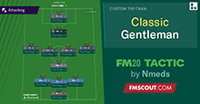 Classic Gentleman 3-1-4-1-1 // Less Means More // FM20 Tactic