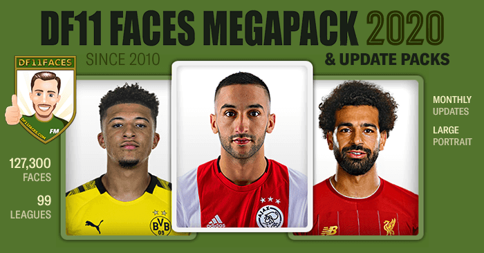 Football Manager 2020 Facepacks - DF11 Faces Megapack FM2020