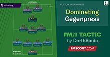 Dominating Gegenpress with defensive stability // FM20 Tactic