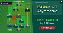 ESPierre v1 Attacking // FM20 Tactic