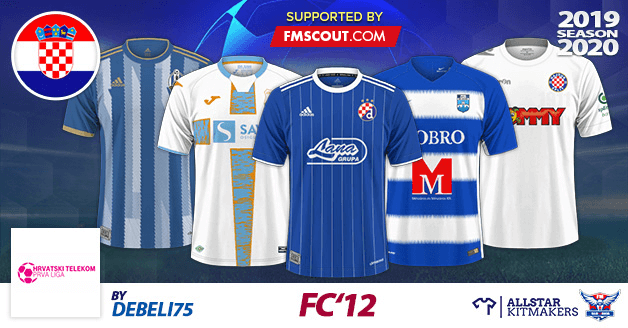 Football Manager 2020 Kits - FC'12 – Croatia – Hrvatski Telekom Prva liga 2019/2020
