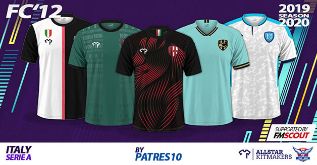 Football Manager 2020 Kits - FC'12 Italy – Serie A Kits 2019/20