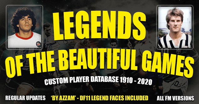 FM 2020 Fantasy Scenarios - The Legends Of The Beautiful Games - Updated V.06