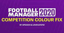 Football Manager 2020 Competition Colour Fix