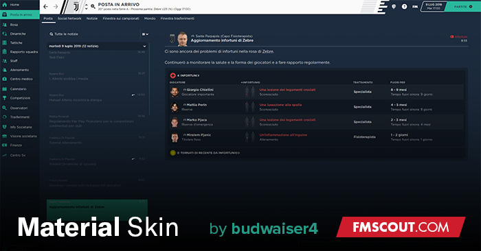 Football Manager 2020 Skins - Material Skin 2.0.6 for FM20 by budwaiser4