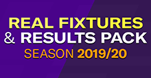 AML's Real Fixtures and Results 2019/20 + Custom Start Date