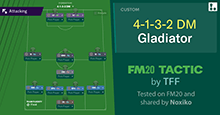 FM20 Tactic: 4-1-3-2 DM Gladiator by TFF