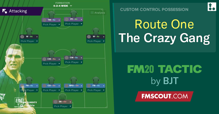 Football Manager 2020 Tactics - BJT 424 THE LAUNCH - Route One with Vinnie & The Crazy Gang